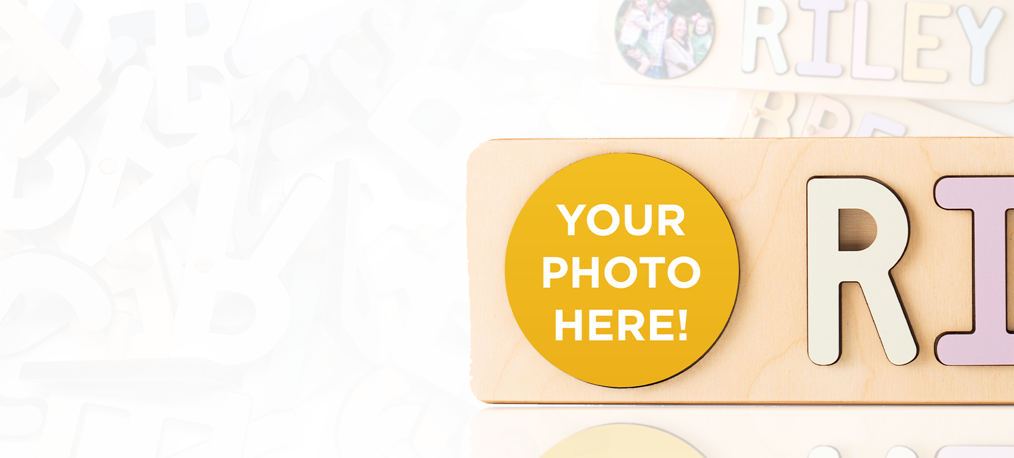 CustomPhoto Name Puzzle Banner